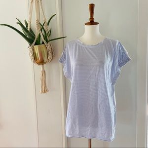 Marc by Marc Jacobs Striped Top Blue White Medium